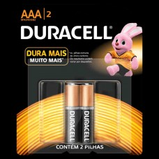 Pilha Duracell Palito (AAA)c/2 - Ref.Duracell