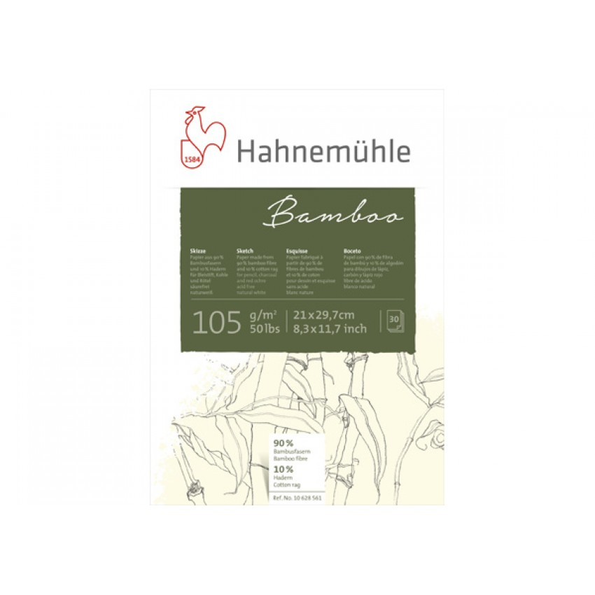 Blc.p/Desenho Skech Bamboo A4/105g Hahnemuhle(30Fls)Unid - Ref.(10628561)47664 Codime