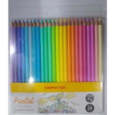 Lapis de Cor Compactor Pastel Art Color(c/24)Unid - Ref.(002395000)Compactor