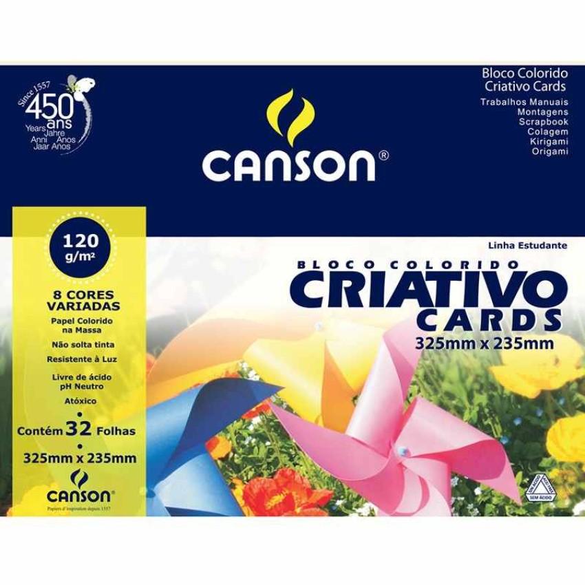 Blc.Canson A3/120g Criativo Cards (32Fls)Unid - Ref.67161 Canson
