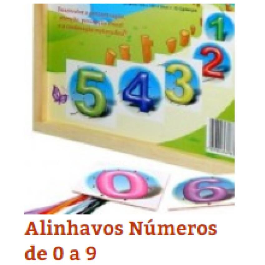 Alinhavos Numeros de 0 a 10(c/10Pçs)Unid - Ref.1135 Editora Fundamental