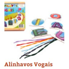 Alinhavos Vogais(c/5Pçs)Unid - Ref.1136 Editora Fundamental