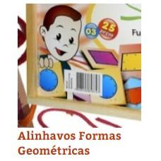 Alinhavos Formas Geometricas(c/25Pçs)Unid - Ref.1224 Editora Fundamental