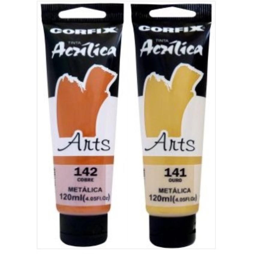 Tinta Acrilica Corfix Arts Metal.120ml(Sort)Unid - Ref.(851213)Corfix