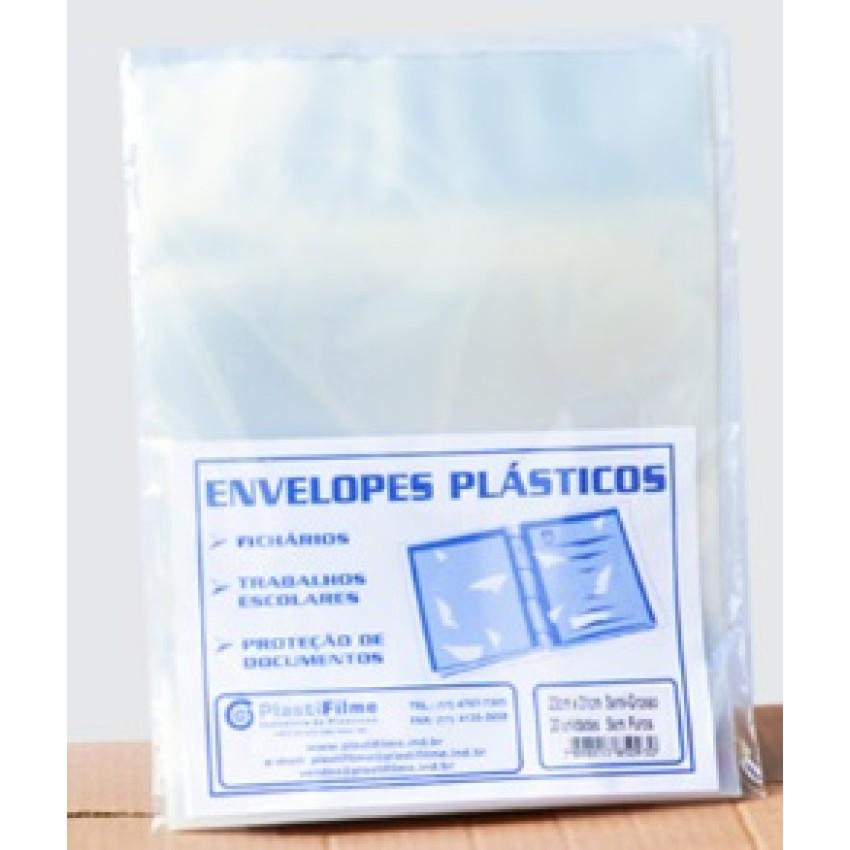 Env.Plast.Plastifilme Semi-Grosso A4 2 Furos(23x31)c/20 - Ref.(7523)5094 Plastifilme